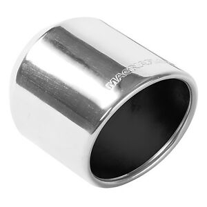 Magnaflow 35136 Stainless Exhaust Tip 2 5 Inlet 4 Round 5 Long Polished