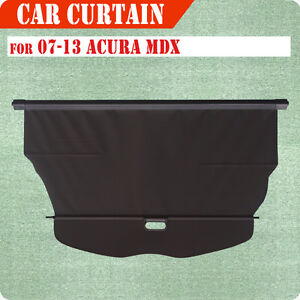 For 07 13 Acura Mdx Cargo Cover Retractable Black Rear Truck Luggage Shade