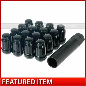 Set Of 16 Black Spline Drive Lug Nuts 12x1 5 Xxr 536 537 538 531 530 527 521 002