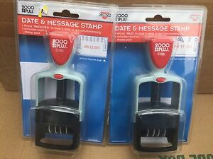 Cosco 2000 Plus Self inking Stamp 011033 Lot Of Two 2