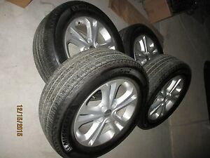 2011 2013 Dodge Oem Durango Set Of 18x8 5 Double Spoke Whees W Michelin Tires