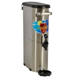 Curtis Tcnl Narrow Iced Tea Dispenser 3 5 Gallon W locking Lid new