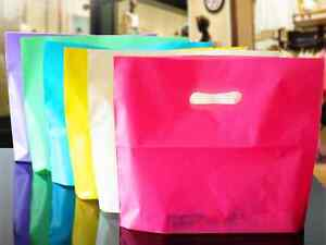 Colorful Plastic Shopping Bags With Handle Boutique Clothes Gift Packaging Pouch