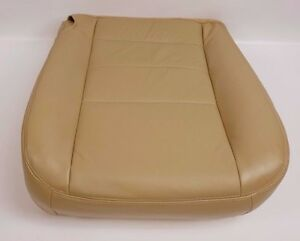 2004 Ford F250 F350 Truck Driver Bottom Captain Chair Leather Seat Cover Tan