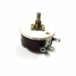 Memcor Type R 50 Ceramic Rheostat Potentiometer 800 Ohm 25 Amp 7040
