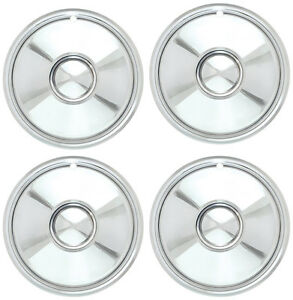 Chrome 16 Bullet Style Sombrero Hub Cap Set Of 4