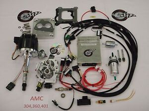 Jeep Fuel Injection System Complete Tbi for Stock 304 360 401 Amc Engine Efi