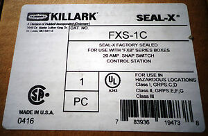 Killark Fxs 1c 20 Amp Snap Switch Hazardous Location New