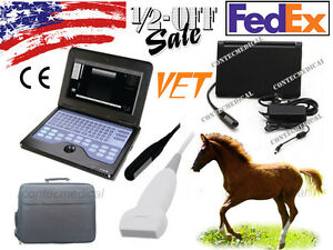 With 2 Probe Veterinary Portable Ultrasound Scanner Machine Animal Rectal linear