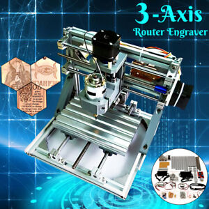 3 axis Mini Cnc Router Engraver Pcb Pvc Milling Wood Carving Machine Diy Set Kit
