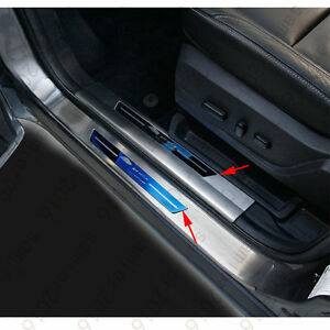 8x Rear Outer internal Door Sill Scuff Plate Cover For Ford Escape Kuga 13 2016