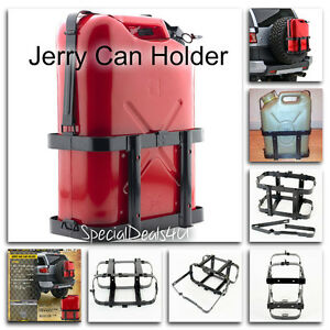 Jerry Can Holder 5 Gallon 20l Gas Fuel Army Nato Military Metal Steel Tank Black