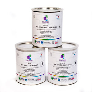 White Epoxy Resin 100 Solids For Garage Floor concrete plywood 3 Gal Kit