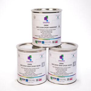 Light Gray Epoxy Resin 100 Solids For Garage Floor plywood Concrete 3 Gal Kit