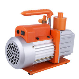 Dual Stage 2rs 1rotary Vane Deep Vacuum Pump Hvac Ac Air Tool Air Pump 0 3pa