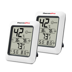 2pcs Lcd Digital Indoor Thermometers Hygrometer Room Temperature Humidity Meter