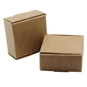 Kraft Paper Brown Gift Box Wedding Candy Party Favor Handmade Soap Packing Boxs