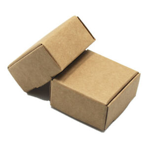 Brown Retro Kraft Paper Box Wedding Favor Candy Gift Party Supply Craft Boxes