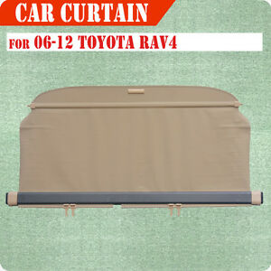 Fit 06 12 Toyota Rav 4 Cargo Cover Retractable Beige Rear Truck Luggage Shade