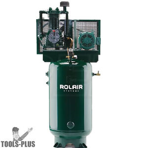 5hp 80 Gal Dual voltage Two stage Air Compressor Rolair V5180k30b 19 New