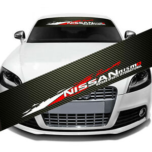 Nismo Front Window Windshield Carbon Fiber Vinyl Banner Decal Sticker For Nissan
