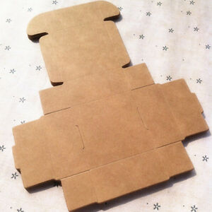 Kraft Paper Box Brown Shipping Gift Small Size Favor Packing Food Boxes 4x4x2cm