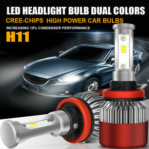 2x Cob H11 200w 20000lm Led Headlight Kit Low Beam High Power Bulbs 6500k White