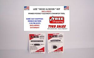 90101 and 90109 * LEE PRECISION PRIMER POCKET CLEANER & CHAMFER TOOL SET * NEW!