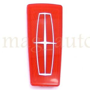 Lincoln Town Car 98 02 Hood Ornament Badge Nameplate Emblem Red 99 00 01