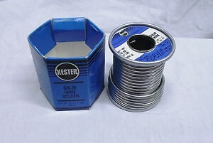 Kester Solder 14 6337 0125 125 Dia Solid Without Flux Core 1lb Roll