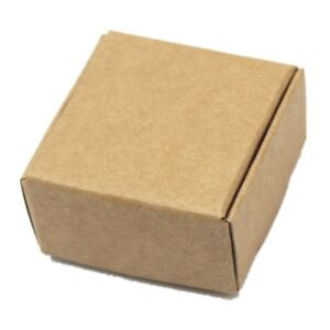 50x Brown Kraft Paper Gift Box Wedding Party Favor Candy Jewelry Packaging Boxes