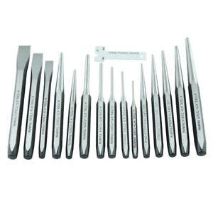 K Tool International 72901 15 Piece Punch And Chisel Set