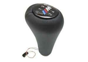Bmw M Illuminated Leather Shift Knob 5 speed Oem