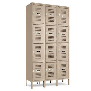 Jorgenson Mail Slot Employee Lockers In Beige 36 w X 18 d X 18 72 h 78 h W legs