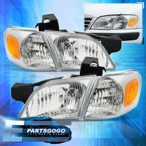 97 05 Chevy Venture Silhouette Chrome Housing Amber Headlights Corner Lamps