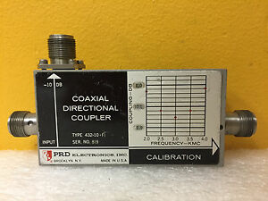 Prd 432 10 f1 2 To 4 Ghz 10 Db Type N f Coaxial Directional Coupler