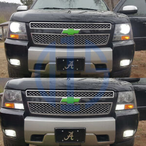 8pcs 2007 2014 Tahoe White High Low Beam Headlight Drl Fog Light Led Bulbs