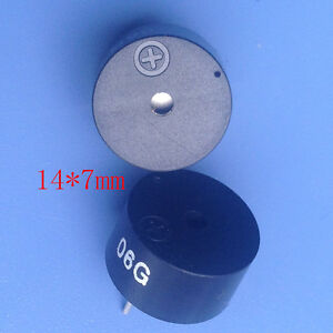 New Piezoelectric Type Active Buzzer 14 7mm Low Power Consumption Speaker 1407