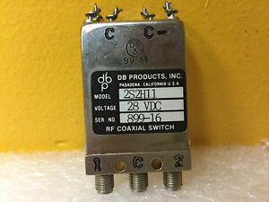 Db Products 2s2h11 Dc To 18 Ghz 50 Ohm 28 Vdc Sma f Rf Coax Switch