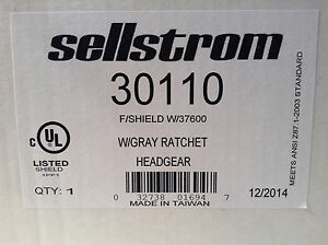 Sellstrom 30110 Face Shield With Grey Ratchet Headgear