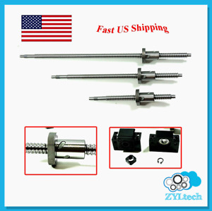 Zyltech Precsion true C7 16mm Ball Screw 1605 W Bf bk12 End Support 700mm