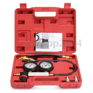 Engine Car Cylinder Leak Down Leak Tester Dual Gauge Diagnostic Detector W Case