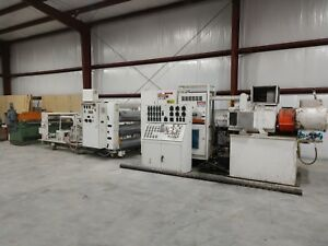 Nrm Sheet Extrusion Line 4 5 Gloucester Extruder 54 Roll Stack Sheet Die Shear