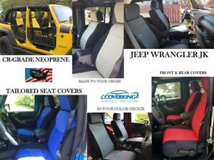 Coverking Cr Grade Neoprene Front And Rear Seat Covers For Jeep Wrangler Jk