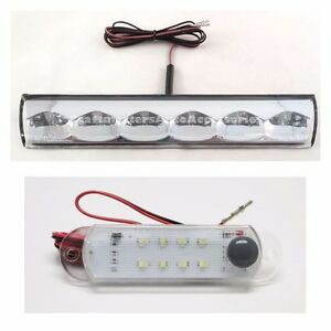 Truck Cap Topper Led 3rd Brake Clear And 12v Dome Light For Leer A R E Century