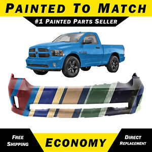 New Painted To Match Front Bumper Cover For 2013 2018 Ram 1500 Sport Express