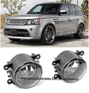 For 08 13 Land Rover Lr2 Lr4 Range Rover Sport Front Bumper Clear Fog Light Lamp