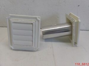 Qty 4 Manufactured Housing P n 1140037079001 Scallop Exhaust Vent 001 White