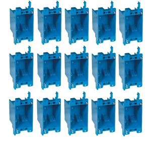15 pc 14 Single gang Wall Outlet Switch Old work Plastic Electrical box Remodel