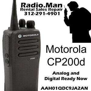 Motorola Cp200d Digital Analog Ready Now 2 way Radio Uhf 16ch 4 Watts New